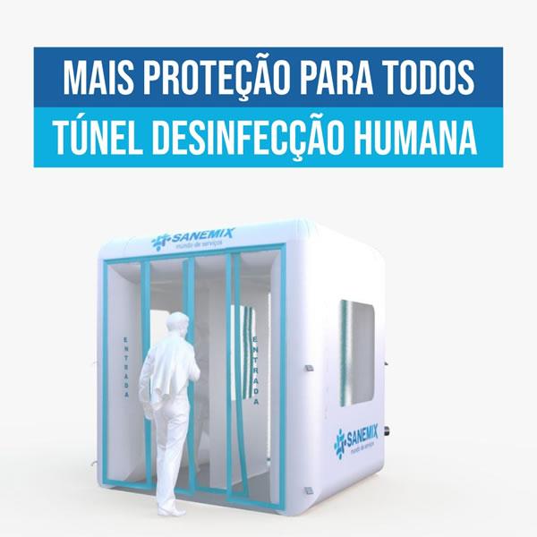 Túnel de desinfecção humana